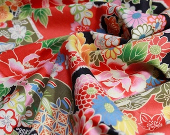 Japanese-style cloth cotton 100cmx110cm Red