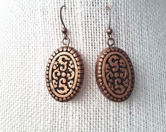 Copper Etched Ovals