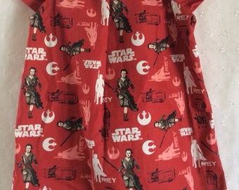 Girls dress in Star Wars Rey fabric, up to 6y