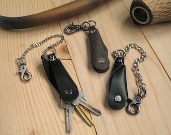 Leather key case Key holder Key fob case Keyring  Leather keychain Key fob Leather key fob holder Minimalist key holder Case for keys key