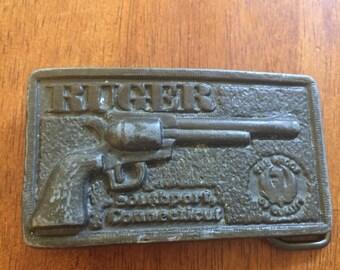 Vintage Ruger Belt Buckle Cowboy Western
