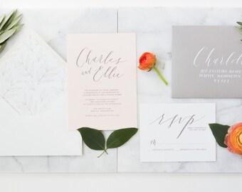 Ellie Suite - Modern Calligraphy Wedding Invitation Suite