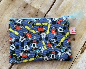 Coin purse /coin pouch/ small zipper pouch/ Disney Mickey and Minnie Mouse