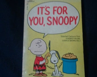 It's for You, Snoopy by Charles M. Schulz - Fawcett Press 1971 Paperback
