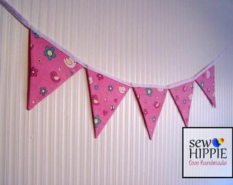 Fabric Flag Bunting Baby Birds Nursery Playroom Birthday Party
