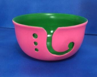 Ceramic Yarn Bowl - custom colors, knitting, crochet