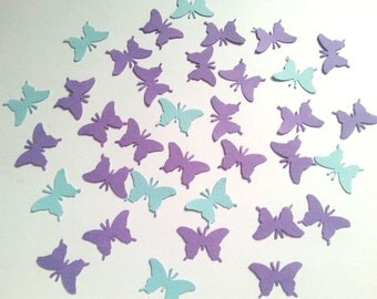 100 Butterfly Cardstock Party Confetti ,Blue and Purple Butterflies,Party Confetti