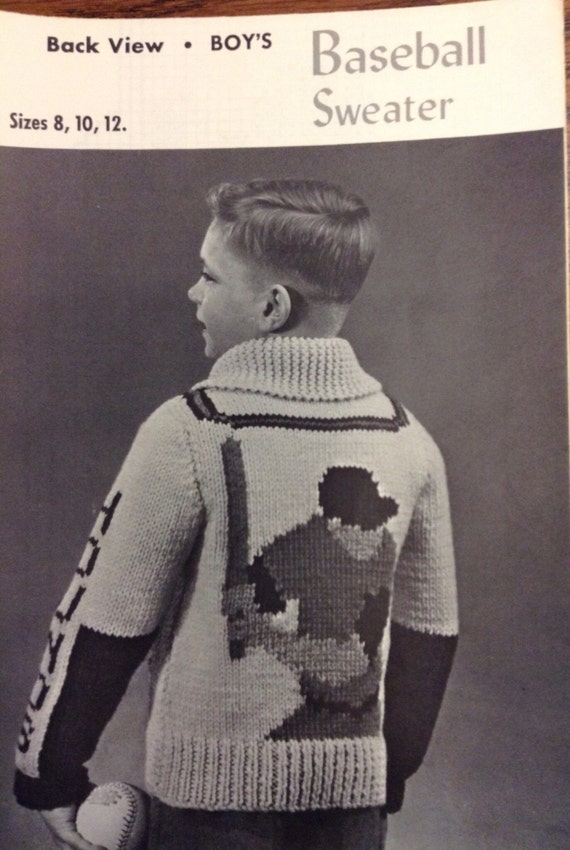 Childrens Baseball Sweater To Knit From Followlight On