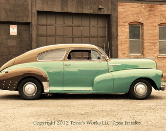 Old Turquoise Chevy photo digital download