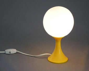 Spherical Yellow lamp with Tulip foot, 1970s