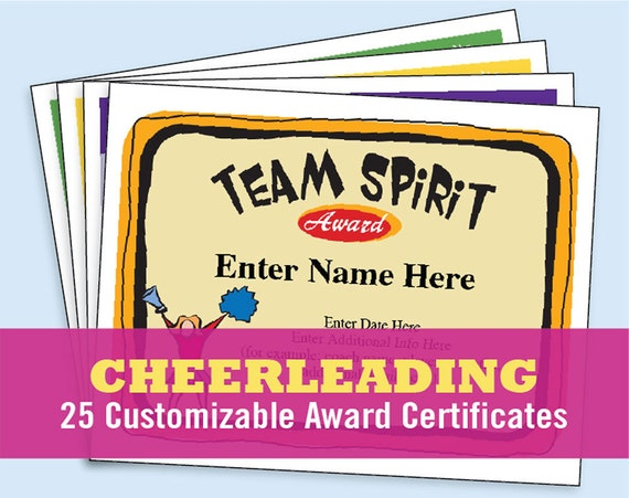 cheerleading certificate templates free - cheerleading certificate cheerleader awards by