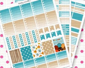 Erin Condren November Theme Kit || Printable Planner Stickers || Instant Digital Download