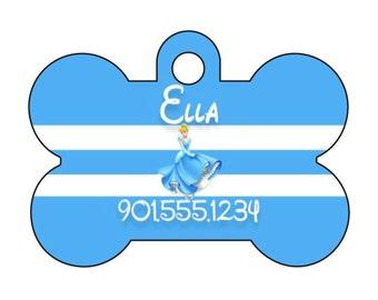 Disney Princess Cinderella Dog Tag Pet ID Tag Personalized w/ Name & Number