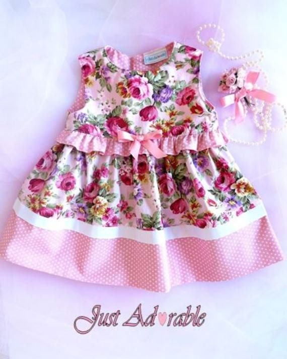 baby clothes vintage style baby dress pink baby dress