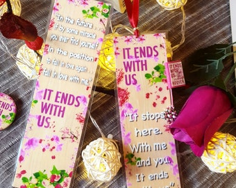 It ends with us bookmark - Handmade