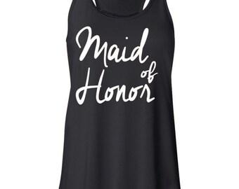 Maid of Honor, Bridesmaid Tank, Wedding Tank, Bride