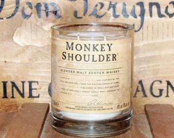 Monkey Shoulder Whisky Candle