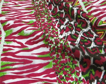 """Multicolor Abstract Printed Pure Cotton Fabric 42"""" Wide Sewing Crafting Material For Dress Making Indian Fabric By The 1 Yard ZBC5256"""