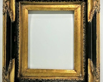 Set of 2 - Vintage Black & Gold Ornate Baroque Picture Frames