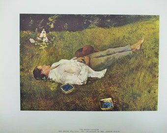 1962 Andrew Wyeth 'The Four Seasons', Complete Collection of 12 fine art reproductions in original folder, Art in America