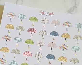 35 Small Umbrella Stickers