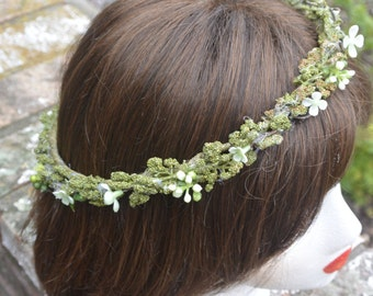 Green with Envy Boho Flower Crown