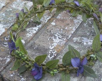 Purple Boho Flower Crown