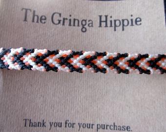 Thin Linking Diamonds Woven Friendship Bracelet Thin Macrame Thin Woven Bracelet