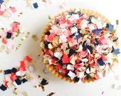 Confetti | Hampton Mix | Party Confetti | Coral and Navy Confetti | Party Decor