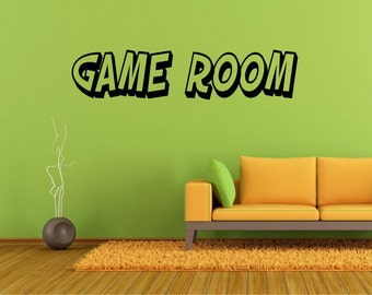 Charming Fun Lettering Game Room Wall Decal *Choose Size U0026 Color* Game Room Vinyl  Wall Awesome Ideas