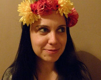 beautiful flower crown headband. FREE SHIPPING