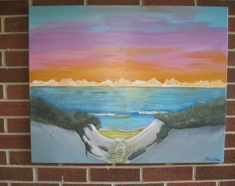 Seascape Painting Abstract Seascape Large Seascape Beach Art On Sale Sunset Ocean Sunrise Ocean Beach Painting Sunset Beach Sunrise Beach
