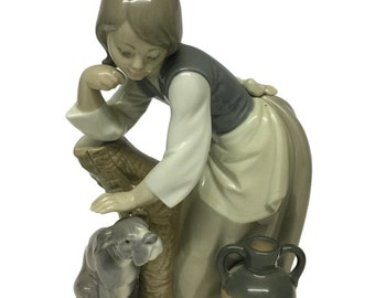 Lladro Lady With Dog