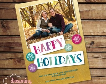 Cute Happy Holidays Card