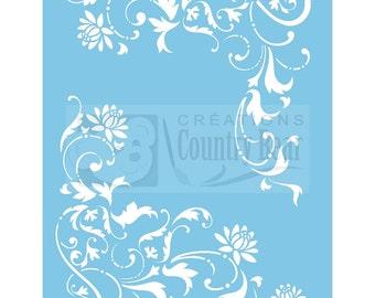 Stencil -  Floral Corners - ST-074