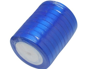Royal Blue Satin Ribbon 6mm | 5 Rolls - 25 Yards per Roll (125 Yards) | Ribbon Reel | 276-Rib