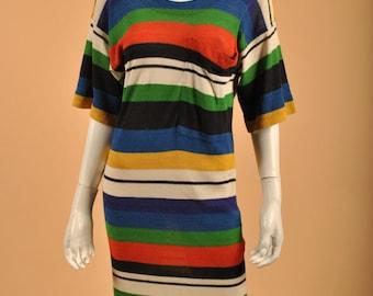 Vintage Missoni Knit Multi Color Block Dress Stunner!! Sz 2-4-6