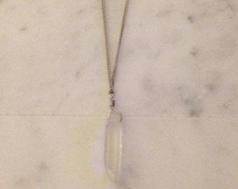 Single Quartz Crystal Necklace