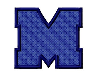 M Applique Machine Embroidery Design Ole Miss Mississippi 3x3 4x4 5x5 INSTANT DOWNLOAD