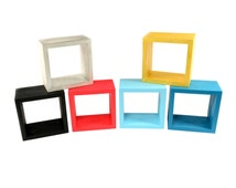 Wall shelf Wooden floating shelves Display unit cube box square
