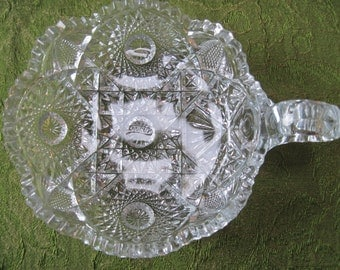 Nucut One-Handled Nappy-Imperial Glass Co. - Item #1129