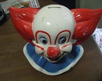 Vintage 70's Bozo the Clown Head Bank
