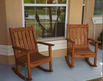 Custom Built Cypress Rocking Chairs