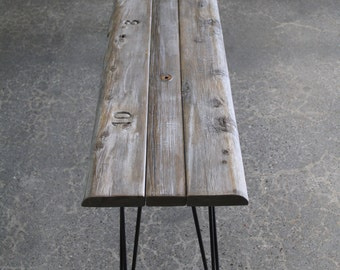 Hollywood Bowl Reclaimed Wood Simple Bench