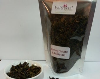 Loose Leaf Tea - Green Tea with Pomegranate and Hibiscus - 100gms
