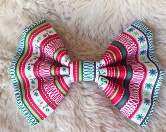 Christmas Sweater Collar Bow