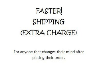 Faster Shipping Charges