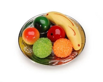 Miniature Fruit Plate - 1.375 x .4375 Inches