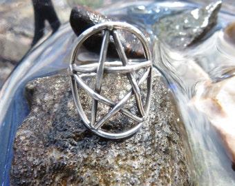 handmade sterling silver pentagram ring