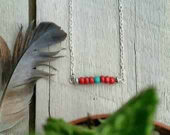 Bead necklace, Navajo necklace, boho necklace